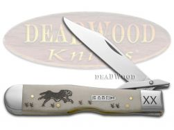 Case xx Running Cheetah Knife Natural Bone 1/500 Stainless Pocket Knives