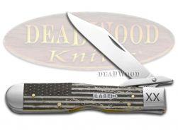 Case xx US Flag Natural Bone Cheetah 1/500 Stainless 6742USF Pocket Knife Knives
