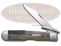 Case xx Cheetah Knife Scrolled U.S. Flag Natural Bone 1/200 Stainless Pocket