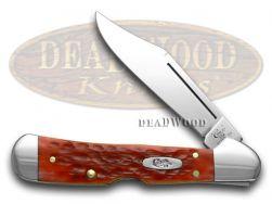Case xx Mini Copperlock Knife Jigged Dark Red Bone Handle CV Pocket Knives 06996