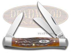 Case xx Medium Stockman Knife Jigged Chestnut Bone Handle CV Pocket Knives 07008