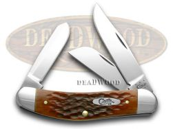 Case xx Chestnut Jigged Bone Sowbelly CV Pocket Knife 7015 Knives
