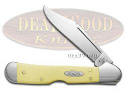 Case xx Yellow Delrin Synthetic Mini Copperlock 1/500 CV 70418 Pocket Knife