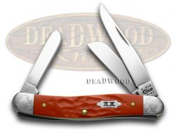 Case xx Medium Stockman Knife Scrolled Rough Red 1/500 Stainless Pocket 70467