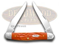 Case xx Muskrat Knife Scrolled Rough Red 1/500 Stainless Pocket Knives 70468
