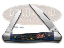 Case xx Mini Copperhead Knife Jigged Navy Blue Bone Stainless Pocket 07062