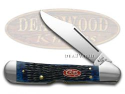 Case xx Copperlock Knife Jigged Navy Blue Bone Stainless Pocket Knives 07064