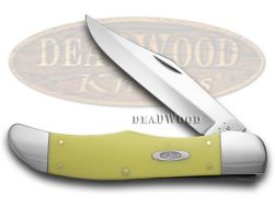 Case xx Large Folding Hunter Knife Smooth Yellow Delrin CV Pocket Knives 00735