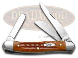 Case xx Medium Stockman Knife Pocket Worn Harvest Orange Bone Stainless 07403