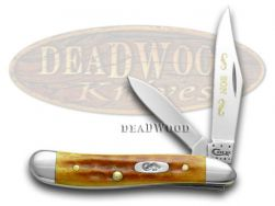 Case xx Son Peanut Knife Harvest Orange Bone 1/500 Stainless Pocket Knives