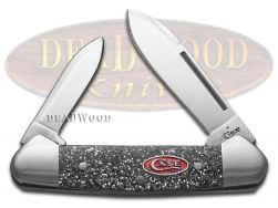 Case xx Butterbean Knife Silver Stardust Kirinite Stainless Pocket Knives 75015