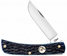 Case xx Ducks Unlimited Sodbuster Jr Knife Jigged Blue Bone Stainless 07542