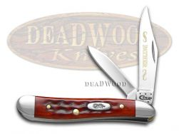 Case xx Father Peanut Knife Old Red Bone Handle Stainless Pocket Knives 781 F