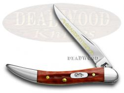 Case xx Grandfather Toothpick Knife Red Bone 1/500 Stainless Pocket Knives