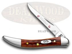 Case xx Mom Toothpick Knife Jigged Red Bone 1/500 Stainless Pocket Knives 792 M