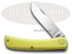 Case xx Sod Buster Jr. Knife Smooth Yellow Delrin Stainless Pocket Knives 80032