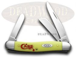 Case xx Medium Stockman Knife Logo Etched Yellow Delrin 1/500 Stainless Pocket