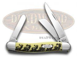 Case xx Medium Stockman Knife Elk Yellow Delrin 1/1000 Stainless Pocket Knives