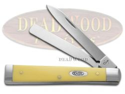 Case xx Doctor Knife Smooth Yellow Delrin Handle Stainless Pocket Knives 80167
