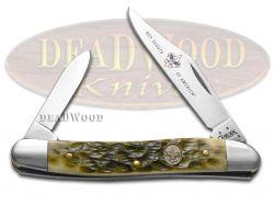 Case xx Pen Knife Jigged Olive Green Bone Handle Stainless Pocket Knives 08025