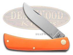 Case xx Sod Buster Jr. Knife Smooth Orange Delrin Stainless Pocket Knives 80502
