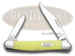 Case xx Pen Knife Smooth Yellow Delrin Handle Stainless Pocket Knives 81090