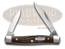 Case xx Pen Knife Jigged Brown Delrin Handle Stainless Pocket Knives 00083