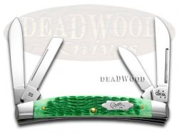 Case xx Large Congress Knife Jigged Emerald Green Bone Stainless Pocket 08537