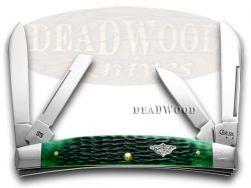 Case xx Large Congress Knife Jigged Bermuda Green Bone Stainless Pocket 08571