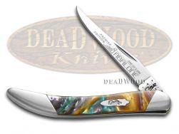 Case xx Toothpick Knife Slant Series Abalone Corelon 1/2500 Stainless S910096AB