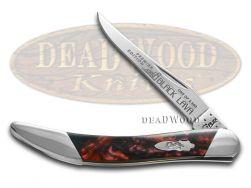 Case xx Toothpick Knife Slant Series Black Lava Corelon 1/2500 Pocket S910096BKL