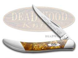 Case xx Toothpick Knife Slant Series Butter Rum Corelon 1/2500 Pocket S910096BR