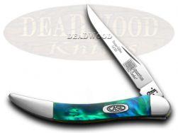 Case xx Toothpick Knife Aquarius Genuine Corelon 1/500 Stainless Pocket 910096AQ
