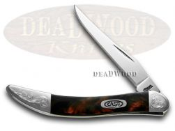 Case xx Toothpick Knife Black Lava Corelon Engraved Bolster Pocket 910096BKL/E