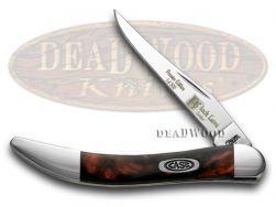 Case xx Toothpick Knife Black Lava Genuine Corelon 1/500 Stainless 910096BKL