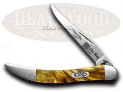 Case xx Toothpick Knife Butter Rum Genuine Corelon 1/500 Stainless 910096BR