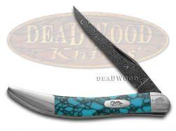 Case xx Painted Pony Damascus Turquoise Web 1/200 Toothpick 910096DAM-TWM Knife
