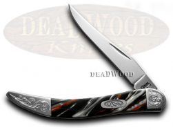 Case xx Toothpick Knife Man In Black Corelon Engraved Bolster Pocket 910096MB/E