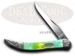 Case xx Toothpick Knife Rainbow Corelon Engraved Bolster Stainless 910096RB/E
