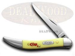 Case xx Toothpick Knife Logo Engraved Yellow Delrin 1/500 CV Pocket Knives