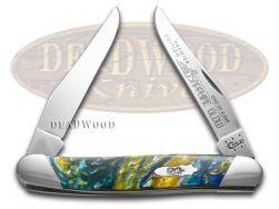 Case xx Muskrat Knife Slant Series Sapphire Glow Corelon 1/2500 Pocket S9200SG