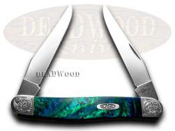 Case xx Muskrat Knife Engraved Bolster Aquarius Corelon Stainless 9200AQ/E