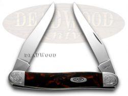 Case xx Muskrat Knife Engraved Bolster Black Lava Corelon Stainless 9200BKL/E