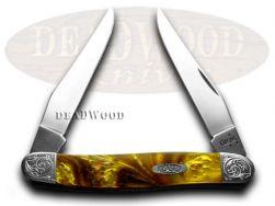 Case xx Muskrat Knife Engraved Bolster Butter Rum Corelon Stainless 9200BR/E