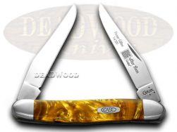 Case xx Muskrat Knife Butter Rum Genuine Corelon 1/500 Stainless Knives 9200BR