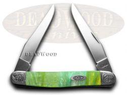 Case xx Muskrat Knife Engraved Bolster Rainbow Corelon Stainless Pocket 9200RB/E