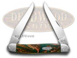 Case xx Muskrat Knife Engraved Bolster Rain Forrest Corelon Stainless 9200RF/E
