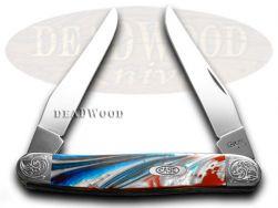 Case xx Muskrat Knife Engraved Bolster Star Spangled Banner Stainless 9200STAR/E
