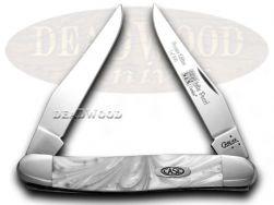 Case xx Muskrat Knife White Pearl Genuine Corelon 1/500 Stainless Pocket 9200WP