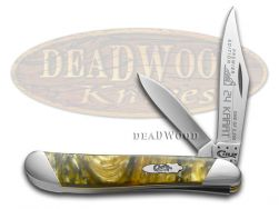 Case xx Peanut Knife Slant Series 24K Corelon 1/2500 Stainless Pocket S922024K